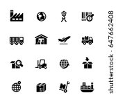 industry   logistics icons   ... | Shutterstock .eps vector #647662408