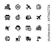 shipping and tracking icons   ... | Shutterstock .eps vector #647662726