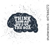 hand drawn inspirational label... | Shutterstock .eps vector #647666272