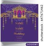 wedding invitation card... | Shutterstock .eps vector #647671462