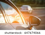 the car stops on the highway... | Shutterstock . vector #647674066