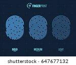 vector fingerprint icons set ... | Shutterstock .eps vector #647677132