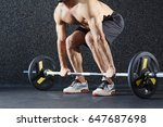 active athlete lifting weight... | Shutterstock . vector #647687698