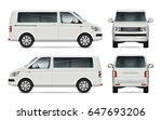 mini bus vector template for... | Shutterstock .eps vector #647693206