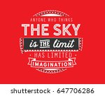 anyone who thinks the sky is... | Shutterstock .eps vector #647706286