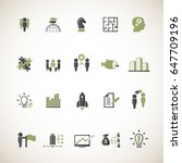 business training icon set | Shutterstock .eps vector #647709196