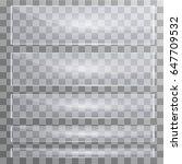 vector modern transparent glass ... | Shutterstock .eps vector #647709532