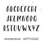 vector handwritten brush script.... | Shutterstock .eps vector #647712262