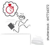 time pressure  stress ... | Shutterstock .eps vector #647716372