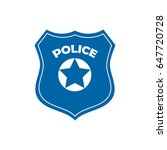 police officer badge icon... | Shutterstock .eps vector #647720728