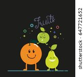 fruits banner cute stylized... | Shutterstock .eps vector #647721652