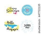 summer labels  logos  hand... | Shutterstock .eps vector #647722135