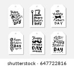 fathers day labels collection.... | Shutterstock .eps vector #647722816
