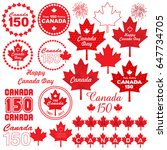 canada day clipart | Shutterstock .eps vector #647734705