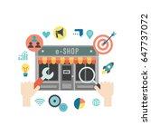 set of flat design concept... | Shutterstock .eps vector #647737072