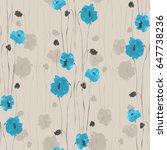 Seamless Pattern Of Blue...