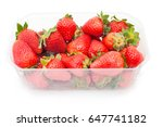 large ripe strawberries from... | Shutterstock . vector #647741182