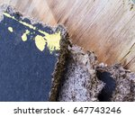 old decaying fiberboard with...   Shutterstock . vector #647743246