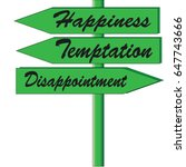 road sign for happiness ... | Shutterstock .eps vector #647743666