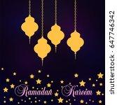ramadan kareem lantern in a... | Shutterstock .eps vector #647746342