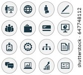 job icons set. collection of... | Shutterstock .eps vector #647748112
