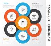 celebration icons set.... | Shutterstock .eps vector #647749012