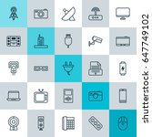 device icons set. collection of ... | Shutterstock .eps vector #647749102