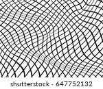 optical illusion.warped lines... | Shutterstock . vector #647752132