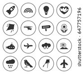 set of 16 sky filled icons such ... | Shutterstock .eps vector #647757196