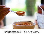 japanese food  fried shrimp  | Shutterstock . vector #647759392