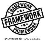 framework round grunge black... | Shutterstock .eps vector #647762188