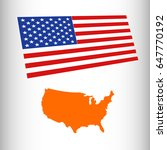 usa map with flag   Shutterstock .eps vector #647770192
