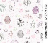 vector illustration. pen style... | Shutterstock .eps vector #647775412