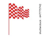 checkered flag isolated icon   Shutterstock .eps vector #647775742