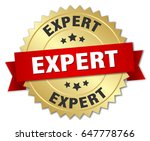 expert round isolated gold badge | Shutterstock .eps vector #647778766