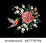 embroidery colorful floral... | Shutterstock .eps vector #647778796