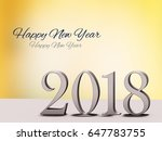 year 2018 for the year change ... | Shutterstock . vector #647783755