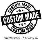 custom made round grunge black... | Shutterstock .eps vector #647784256