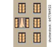 pattern window of brown