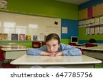 Small photo of Girl at the school to discourage.