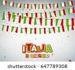 greeting card for italian... | Shutterstock .eps vector #647789308