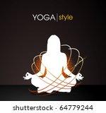 yoga style   vector poster | Shutterstock .eps vector #64779244