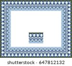 border or frame of abstract... | Shutterstock . vector #647812132