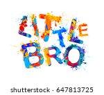 little bro | Shutterstock .eps vector #647813725