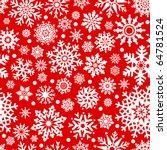 White Snowflakes On Red...