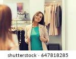 shopping  clothes  fashion ... | Shutterstock . vector #647818285