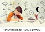education  childhood  people ... | Shutterstock . vector #647819902