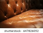 brown leather upholstery of... | Shutterstock . vector #647826052