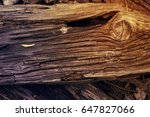 rotten wood planks covered with ... | Shutterstock . vector #647827066