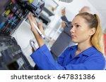 young female technician... | Shutterstock . vector #647831386
